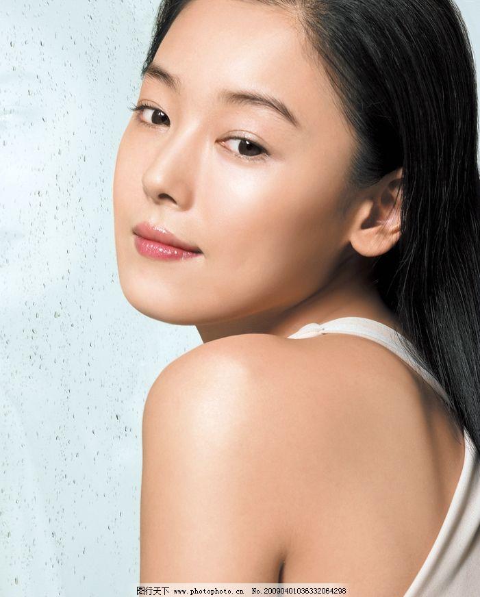 韩国 知性 美丽 女性 侧身图片_明星偶像_人物图库_图