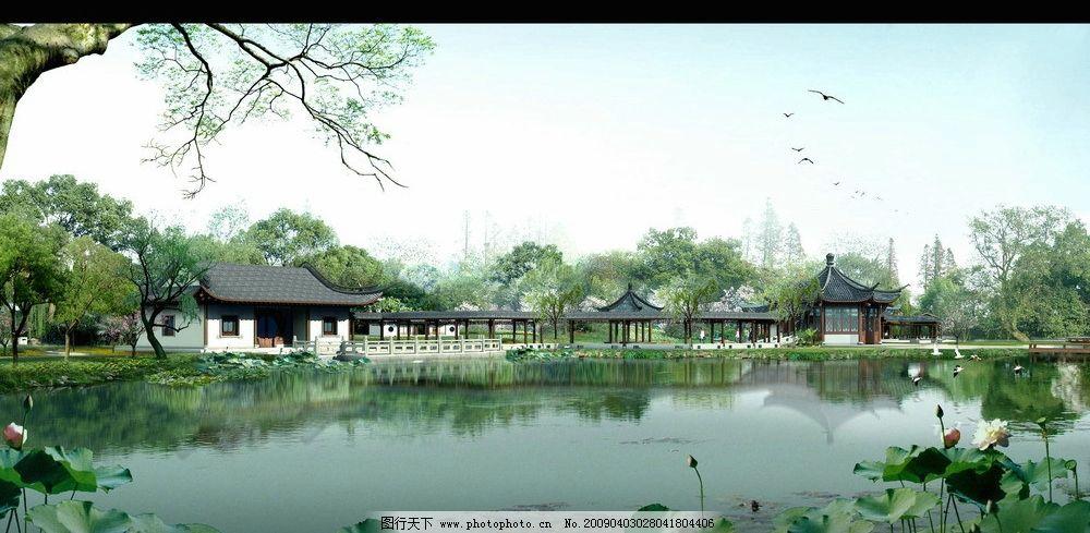 建筑配景 效果图后期 后期配图 环境设计 景观 日景效果图 室外效果