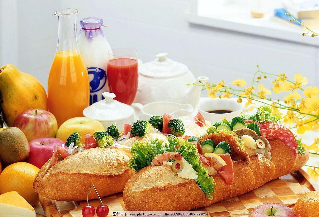 美食 西餐 面包 饮料 食物 旅游摄影 国外旅游 摄影图库 350dpi jpg