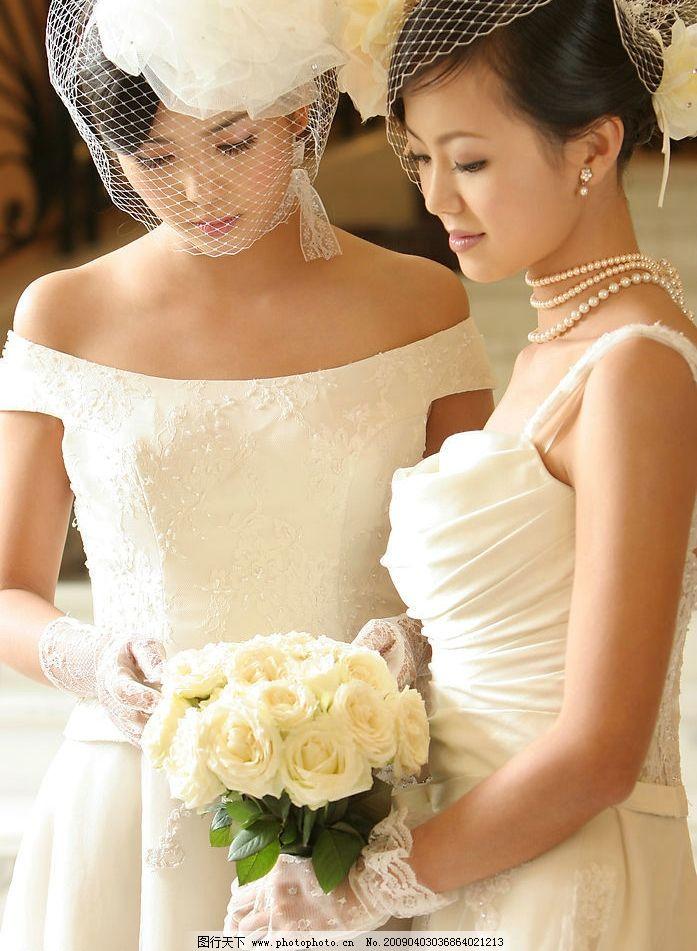 婚纱 美女 结婚 婚礼 伴娘 人物图库 女性女人 摄影图库 300dpi jpg