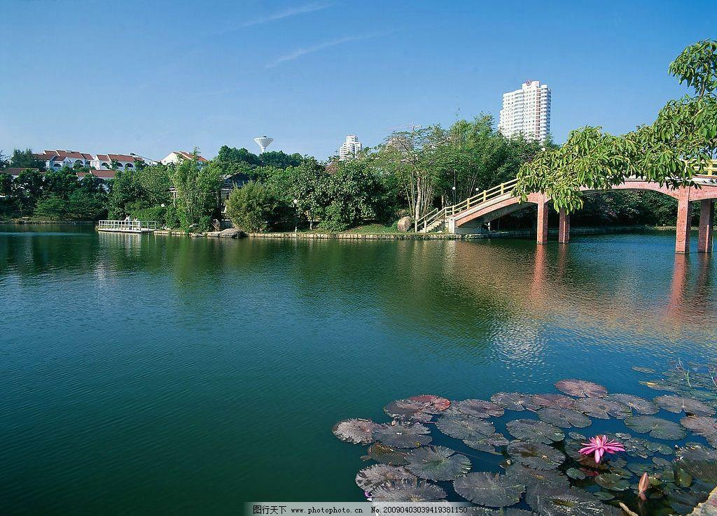 城市园林风景图片