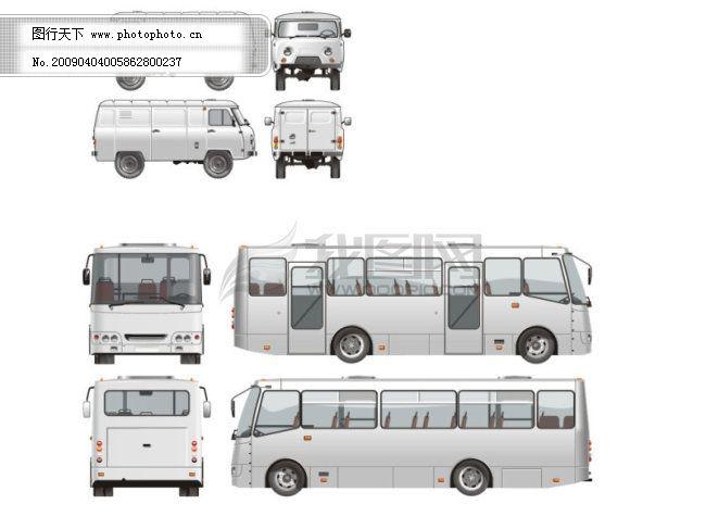 客车和商务车免费下载 客车 商务车 客车 商务车 矢量图 现代科技