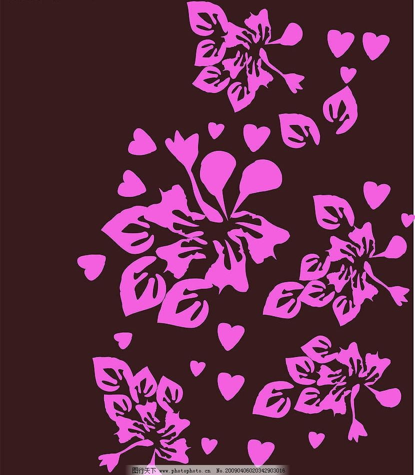 手绘花 花朵 花纹 底纹