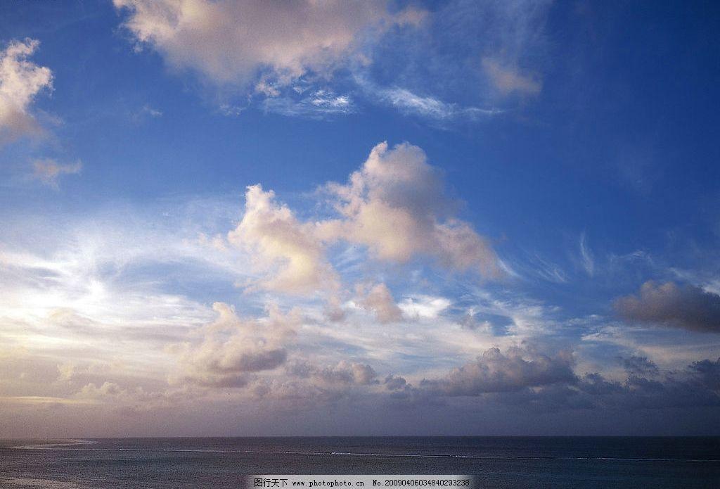 天空 蓝天 白云 大海 自然景观 自然风景 摄影图库 350dpi jpg