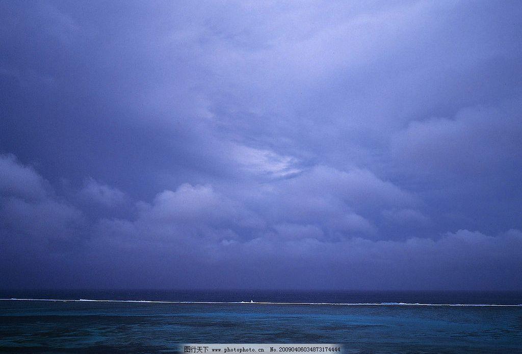 天空 蓝天 大海 自然景观 自然风景 摄影图库 350dpi jpg