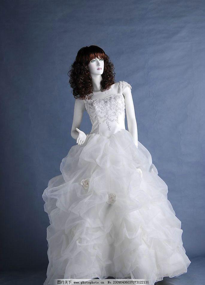 白色婚纱 婚纱 摄影 蕾丝 服装    白色 生活百科 生活素材 摄影图库