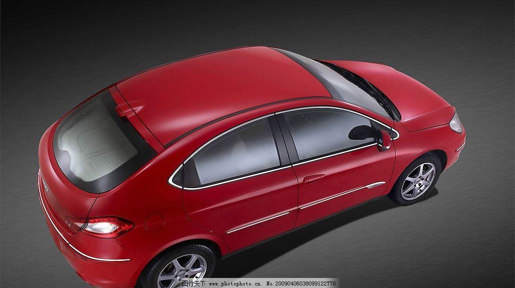 奇瑞汽车 两厢 时尚 动感 俯视图 交通工具 现代科技 摄影图库 图片