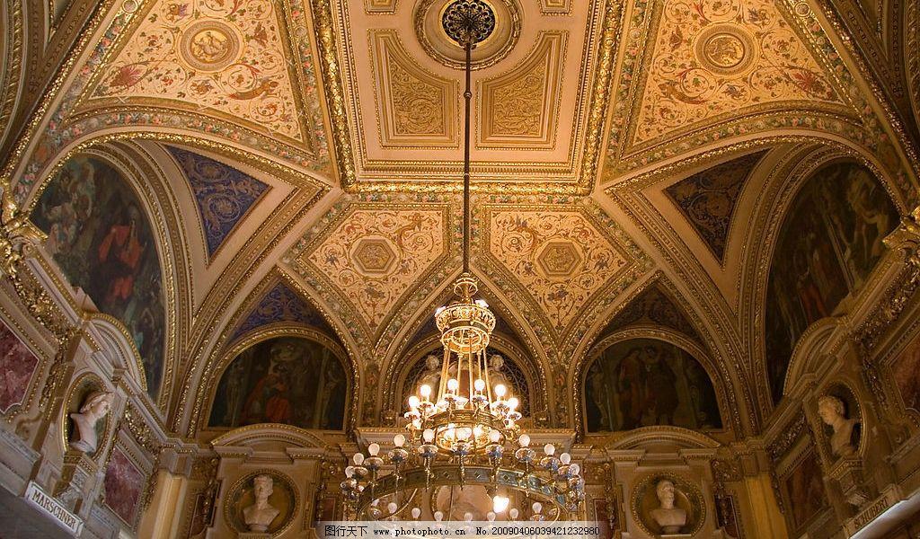 华丽吊灯 华丽 吊灯 屋顶 大厅 金碧辉煌 古典 欧洲风格 花纹 图案