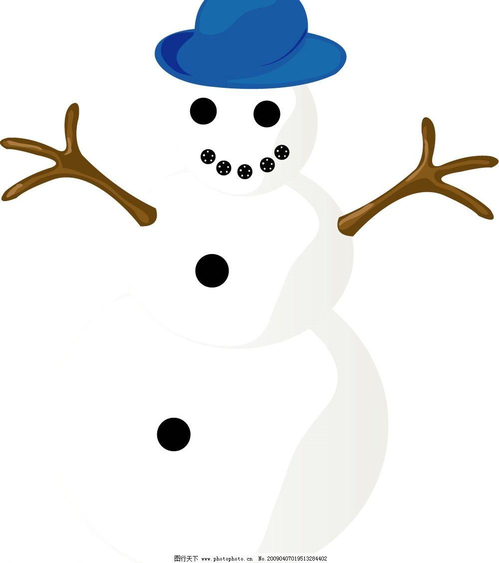 圣诞雪人 卡通雪人 节日素材 矢量图库