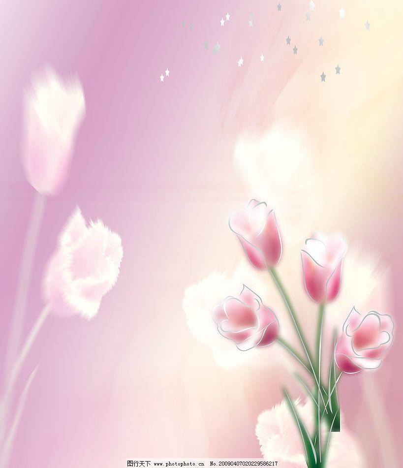 花朵背景 粉色 花 背景 底纹边框 背景底纹 设计图库 72dpi jpg