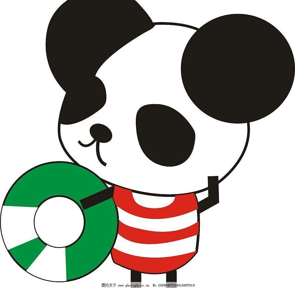 小熊猫 可爱熊猫卡通 生物世界 其他生物 矢量图库
