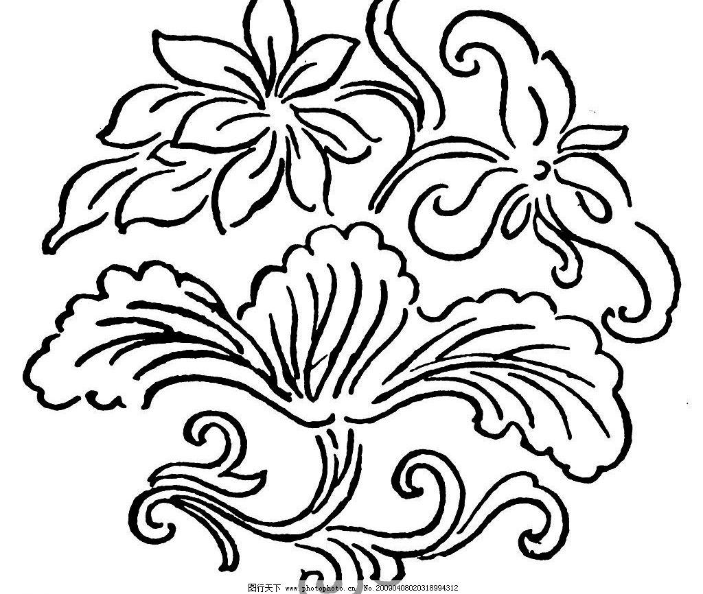唐代素材 唐朝 古代 古典 花边 图案 底纹 黑白 底纹边框 花边花纹