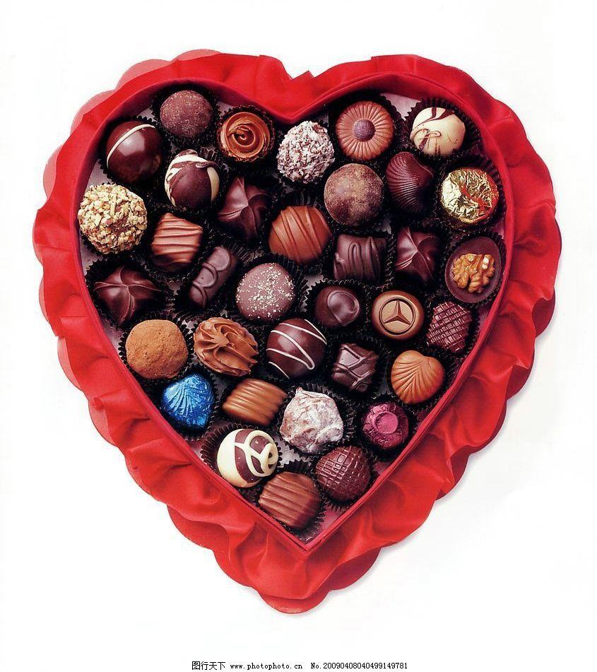 巧克力 情人节 心形 爱心 餐饮美食 食物原料 摄影图库 72dpi jpg