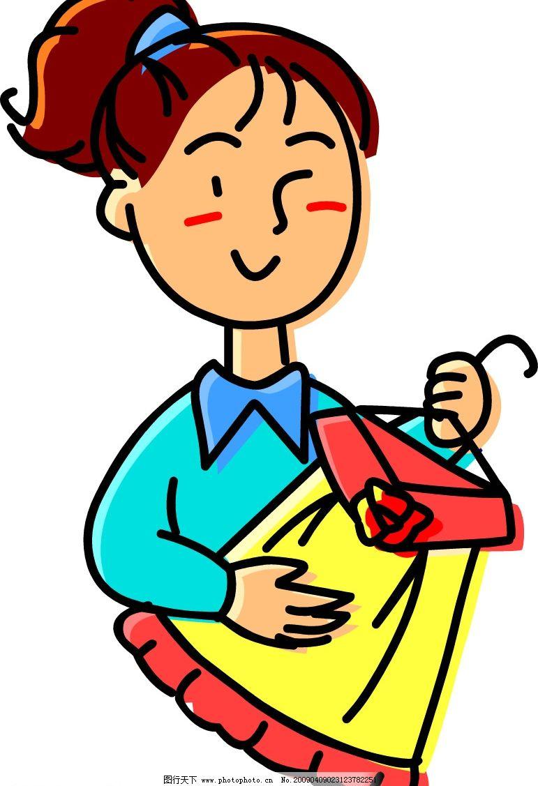 矢量人物 矢量 人物 人像 衣服 裙子 女孩 女人 日常生活 矢量图库