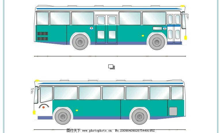 车型矢量图 广普a620 公交车结构图 公交车矢量图 客车矢量图