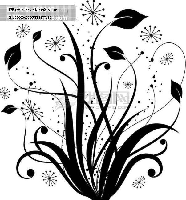 矢量素材圆形欧式花纹边框-花边底纹-矢量图-免费