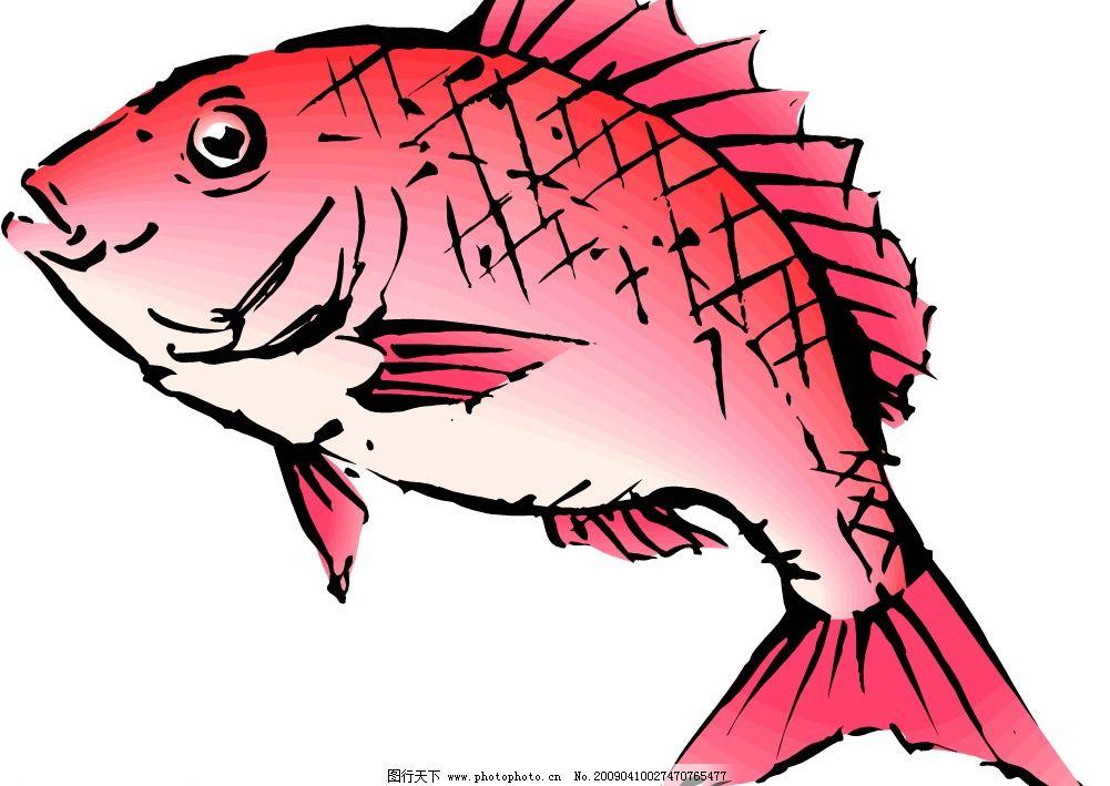 水产海鲜 水产 海鲜 鲤鱼 矢量 鱼类 贝类 龙虾 螃蟹 食材 海洋 生物