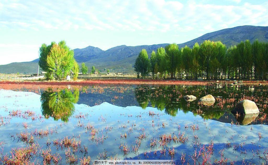 滇藏一角 滇藏线 西藏 大理 风景 蓝天 湖水 文化艺术 美术绘画