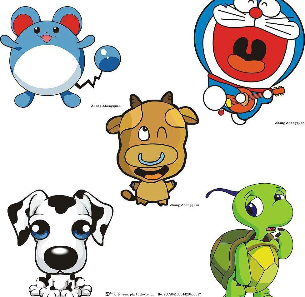 动画片 神奇宝贝 牛 机器猫 动漫动画 动漫人物 卡通 小叮当 多啦a梦