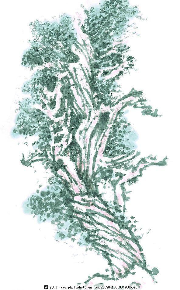 老树 树林 树木 国画 写意 传统艺术 植物 文化艺术 传统文化 设计