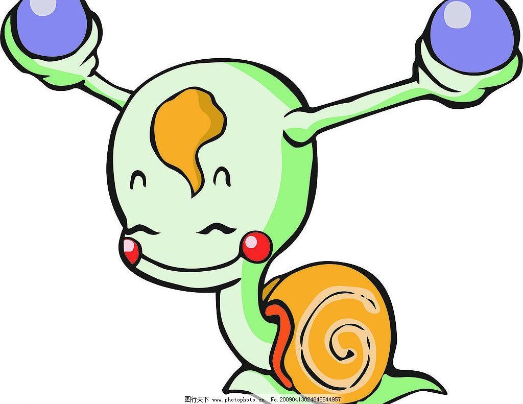 可爱的小蜗牛图片