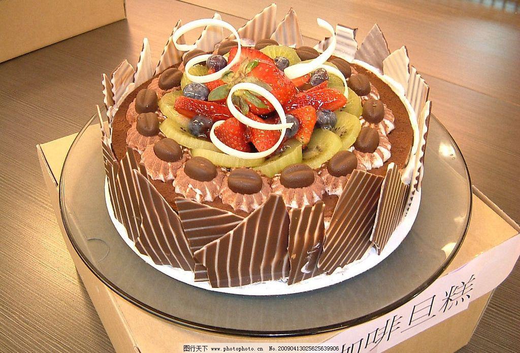 咖啡蛋糕图片,水果 巧克力 草霉-图行天下图库