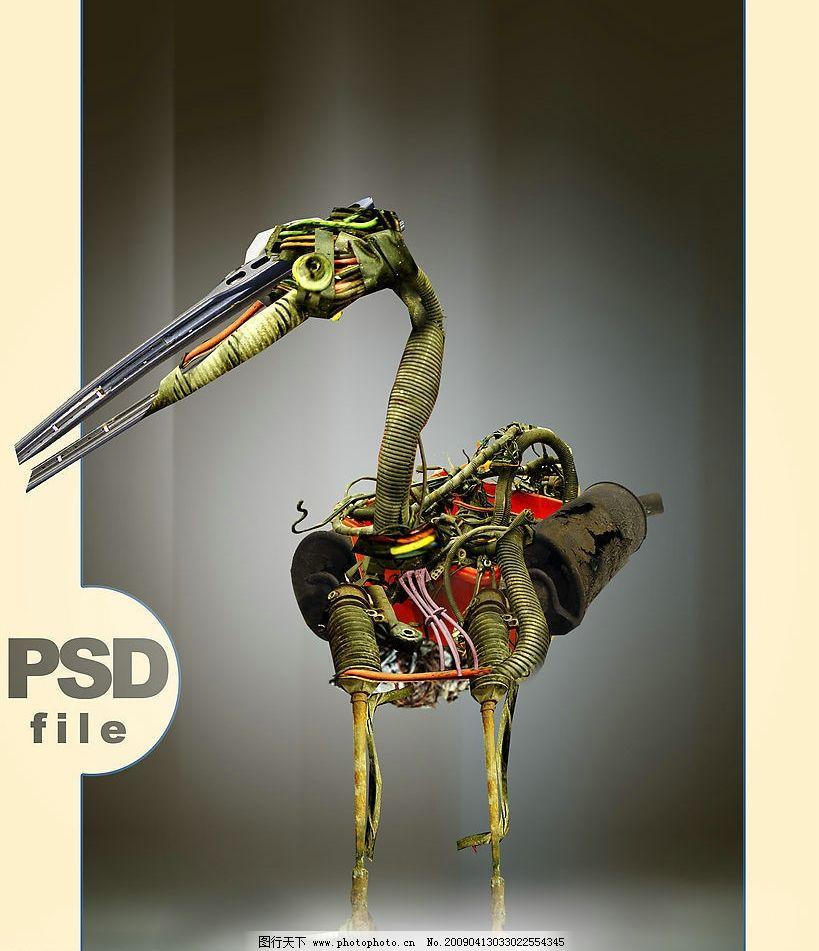 机械动物创意素描
