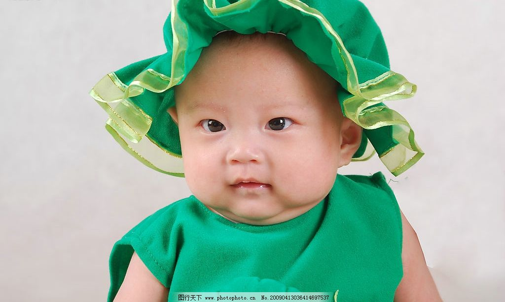 娃娃图片,儿童摄影 小孩 满月照 明眸 婴儿 大眼睛-图