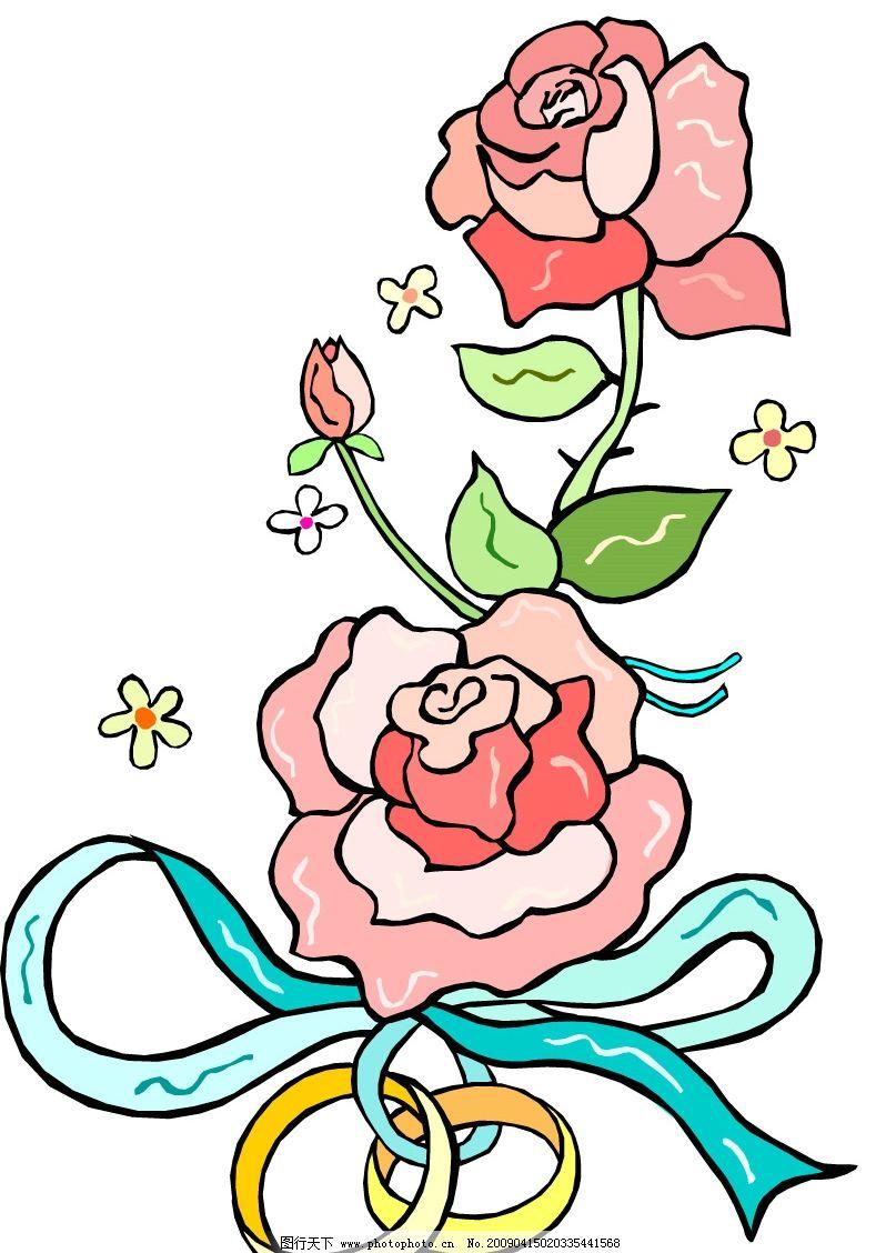 玫瑰花 花边底纹 底纹边框