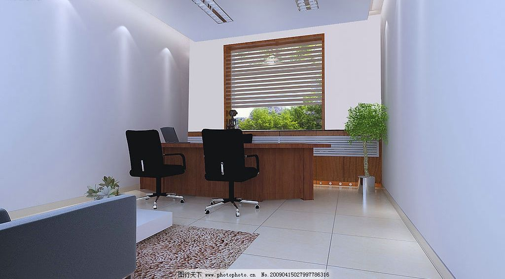 辦公室效果圖 室內設計 辦公室 公共場所 簡約 窗戶 辦公桌 合層 環境