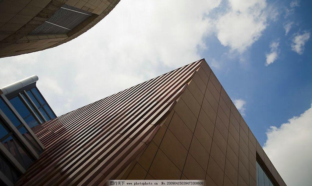 城市的天空 天空 仰望 建筑景观 艺术 白云 城市 其他 图片素材 摄影