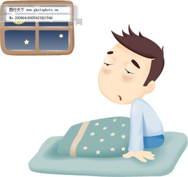韩国卡通病人矢量图
