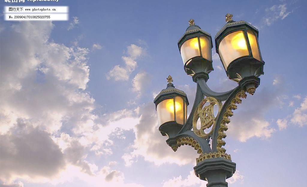 欧式路灯图片