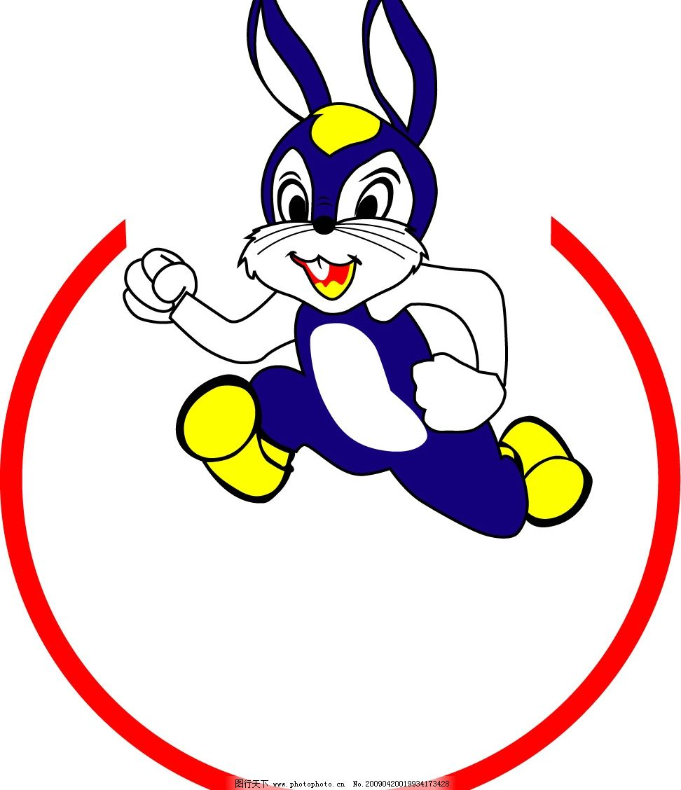 登山兔 矢量标志图片