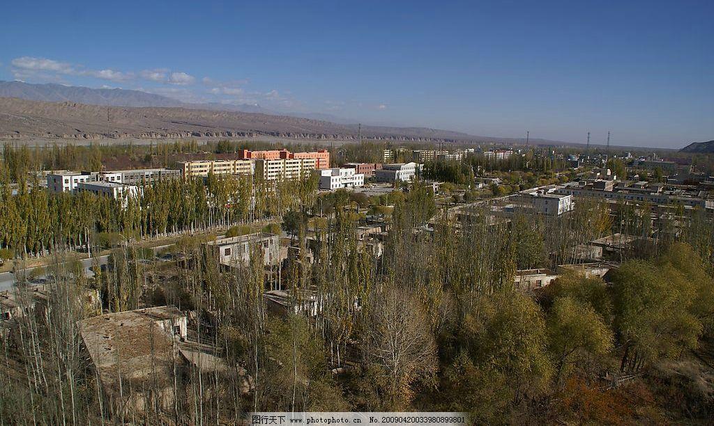 新疆阿合奇县全景图片