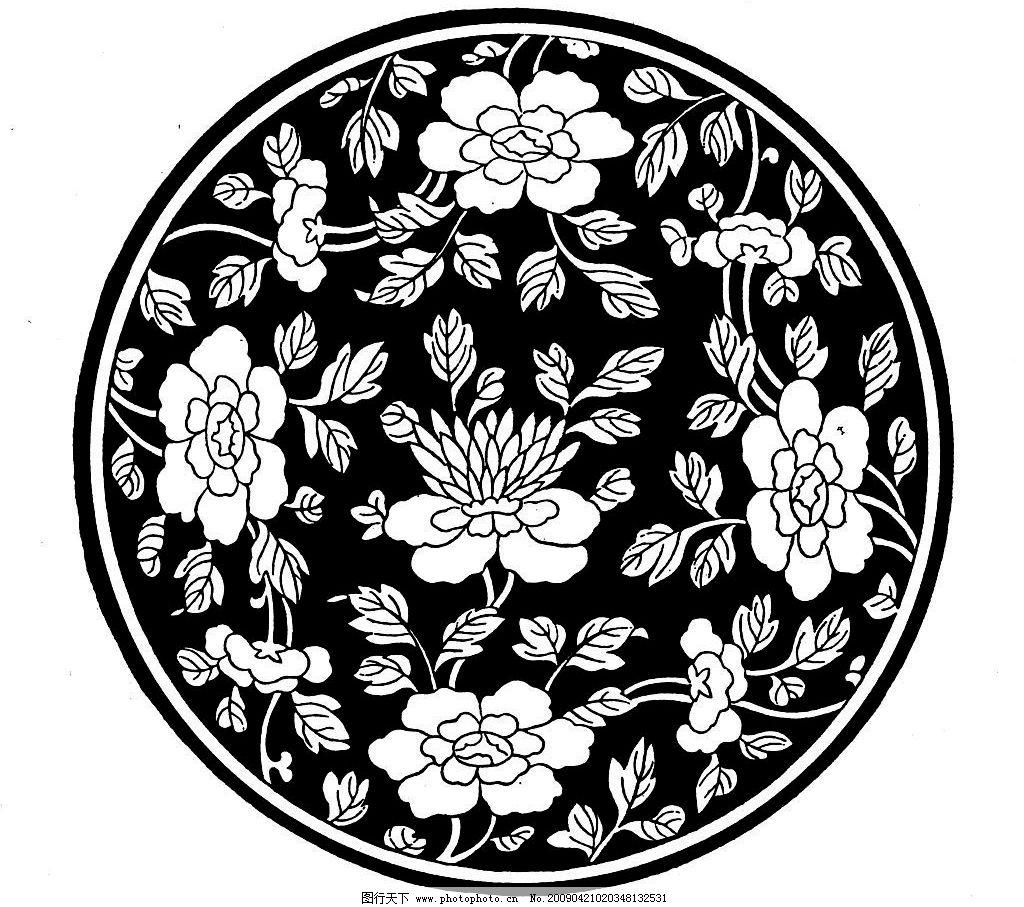 花边 底纹 黑白