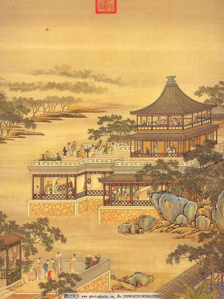 古图 古图国画风景 古代图 国画人物 古画 古代建筑 古代人物