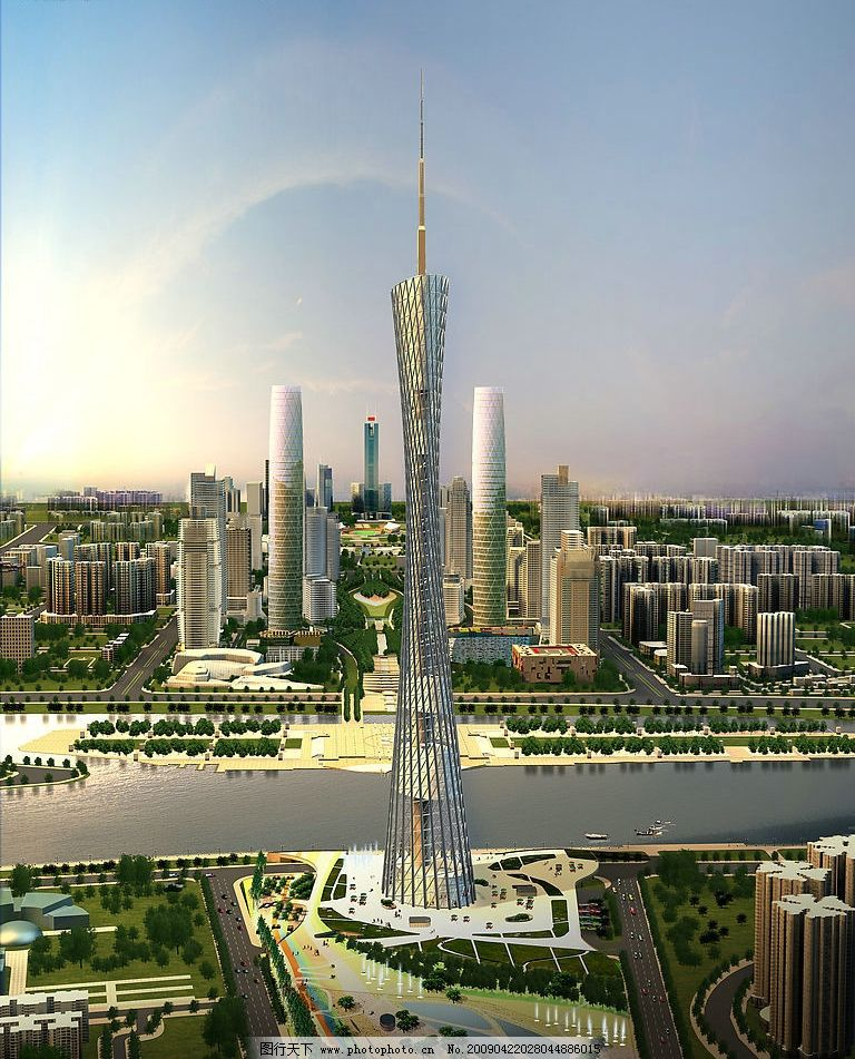 新广州电视塔图片_建筑设计