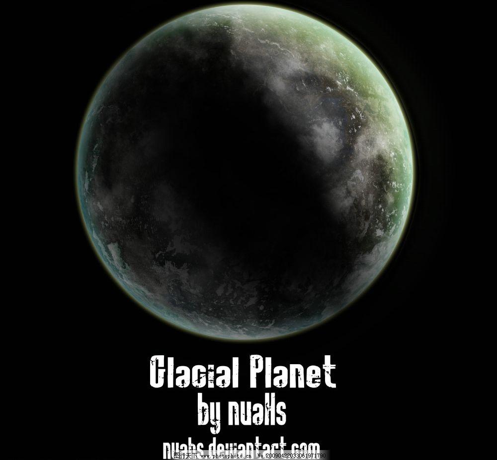 地球 月球 球 发光体 psd分层素材 源文件库 320dpi psd