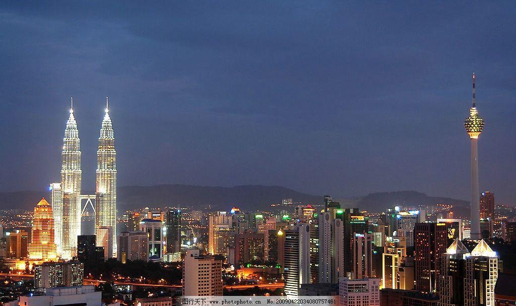 吉隆坡夜景 马来西亚 旅游摄影