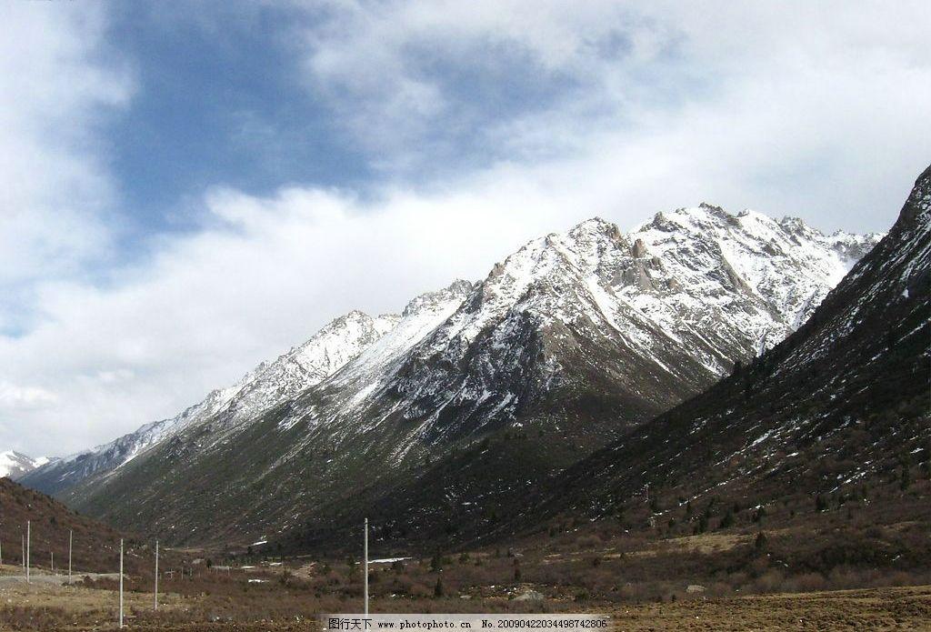 西藏雪山 西藏风景 雪山 西藏 自然风景 自然景观 山水风景 摄影图库