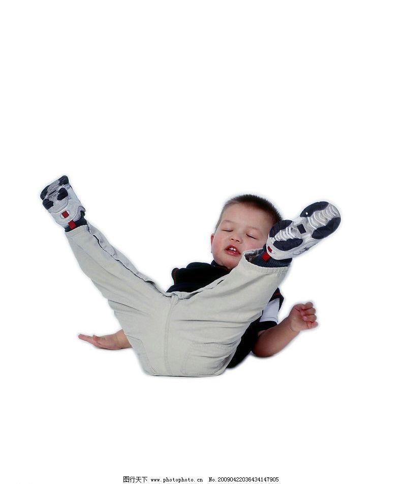 可爱幼童 男孩 活泼 眼神 手势 摔跤 儿童幼儿 摄影图库