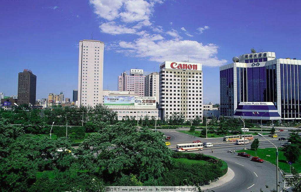 城市风光图片,城市风景 建筑物 繁华街道 蓝色天空-图