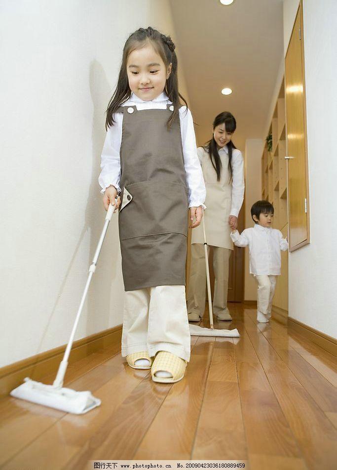 做家务的孩子 孩子 儿童