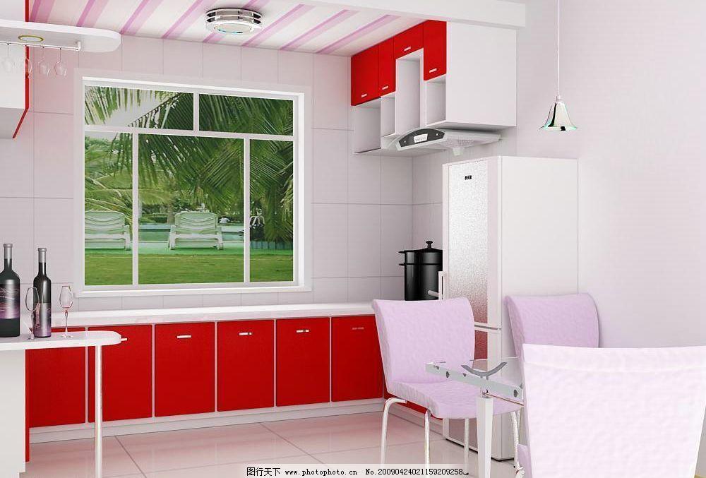 餐厅 室内效果 室内模型 厨房模型 餐厅模型 厨房用品 3d设计