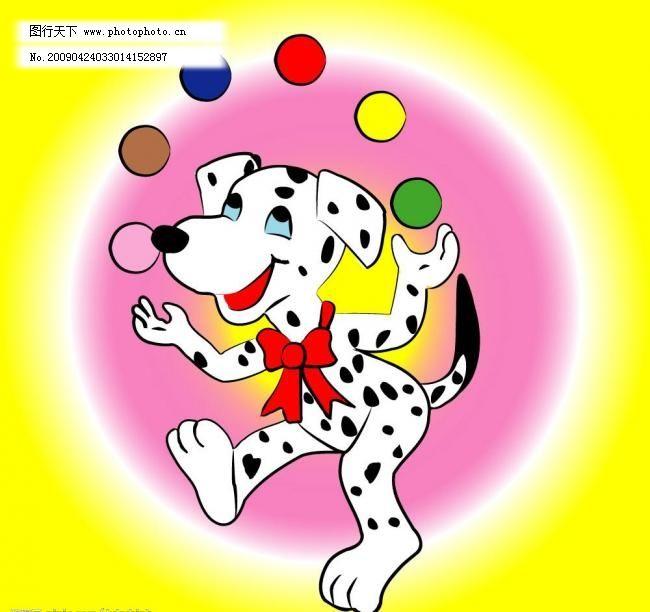 可爱小花狗卡通图片