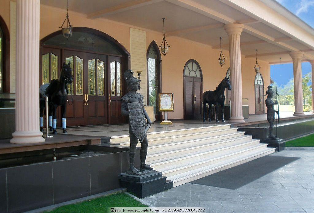 九龙山马会 浙江 平湖 欧式建筑 骏马塑像 欧洲古代武士塑像 旅游摄影