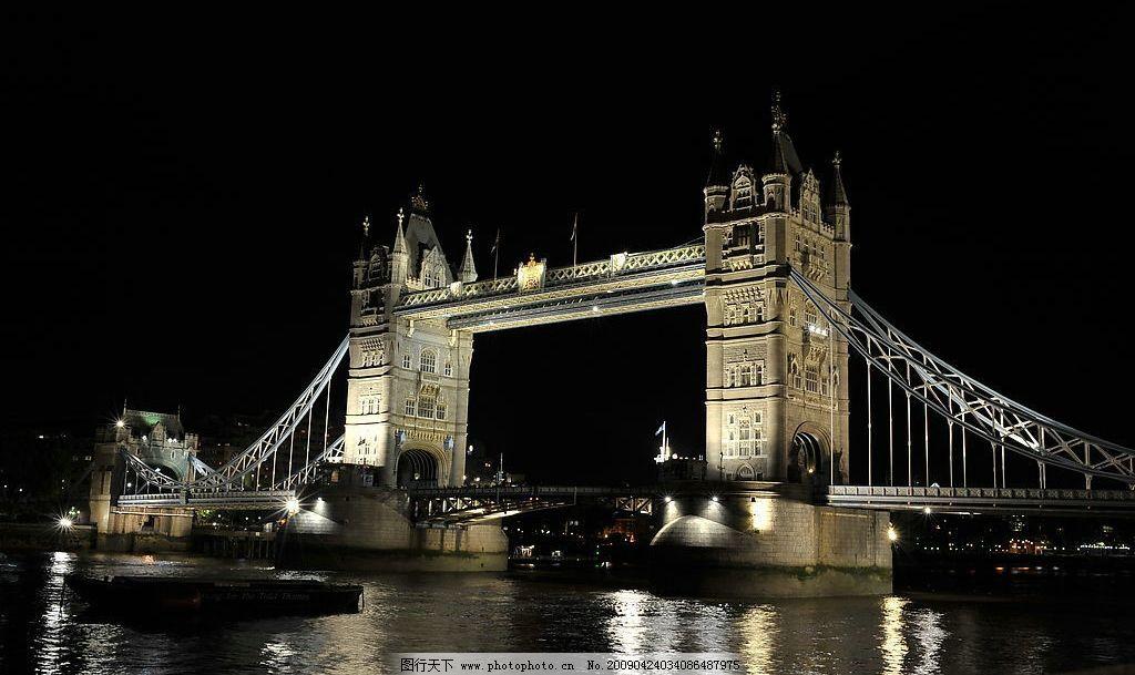 伦敦塔桥 夜景图片