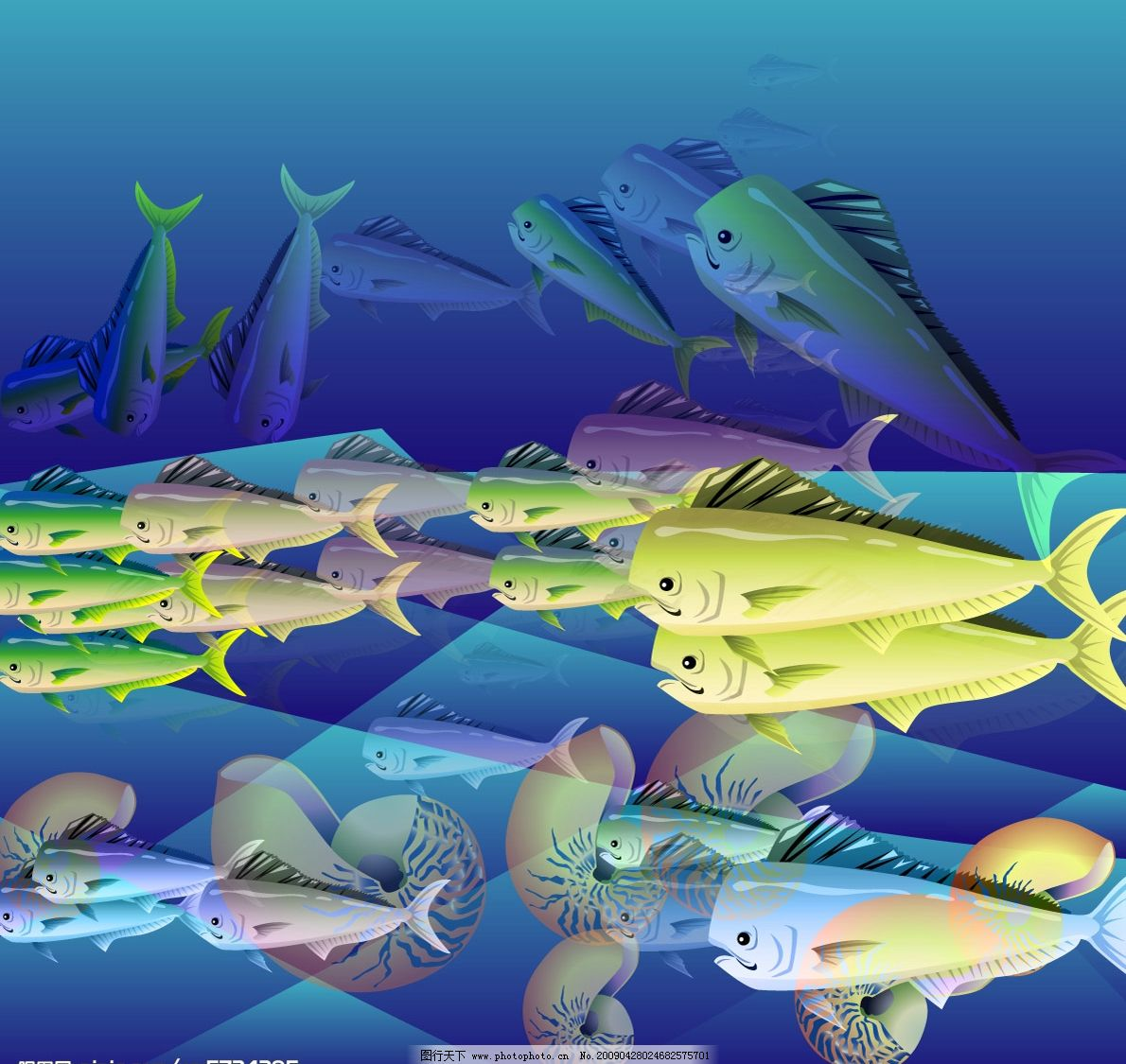 鱼 生物世界 精美卡通 矢量素材 卡通图 广告设计 海报设计 ai 鱼类