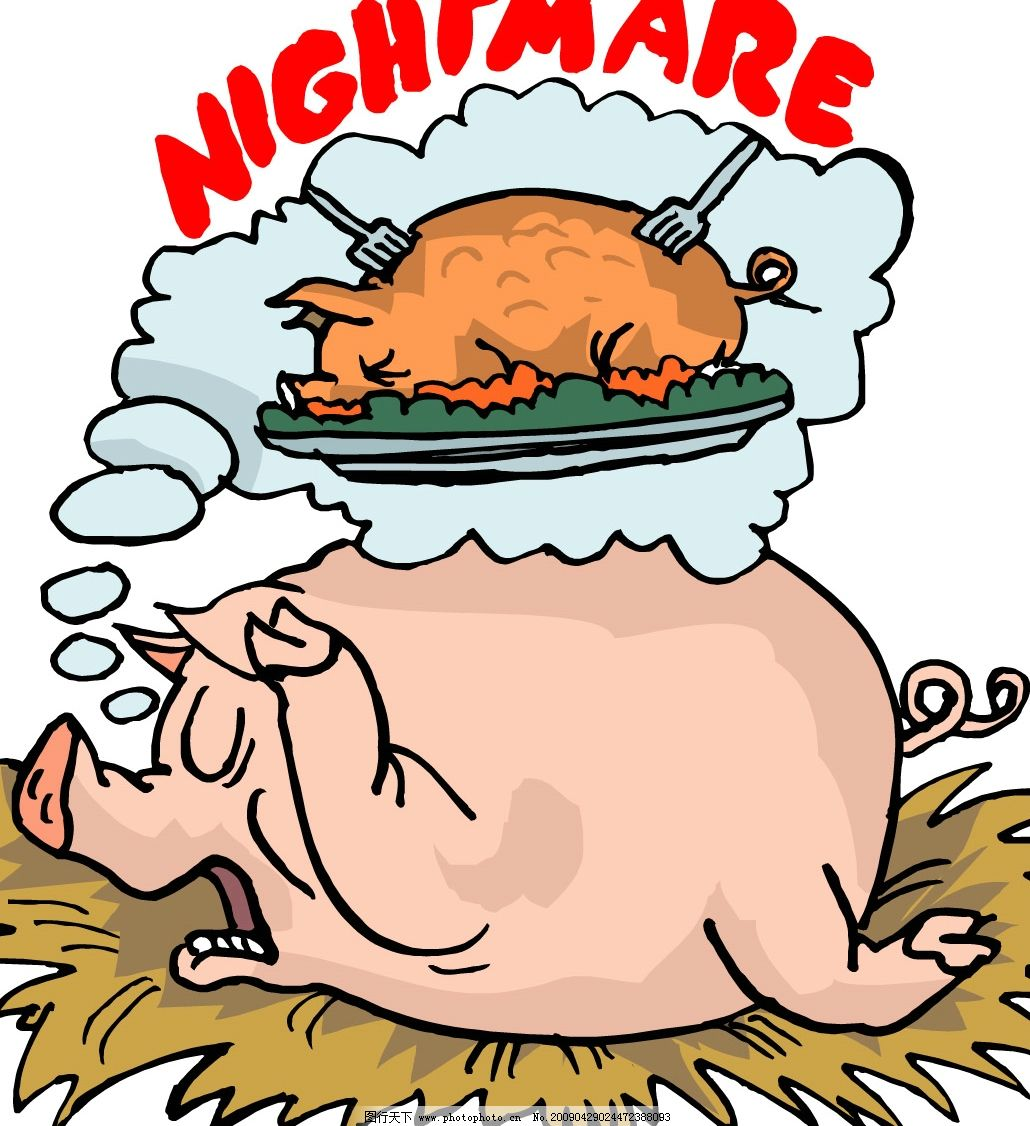家猪 生物世界 野生动物 矢量图库 wmf